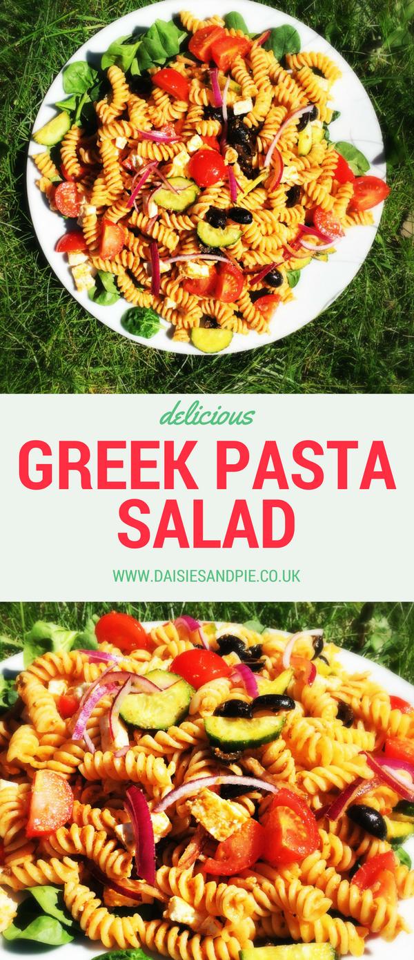 Greek Pasta Salad, easy pasta salad recipe for summer, quick summer dinner ideas