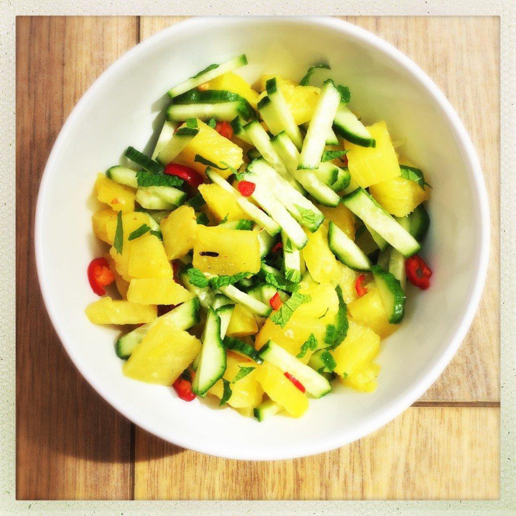 pineapple salsa, spicy pineapple salsa, pineapple salad, grilled ...