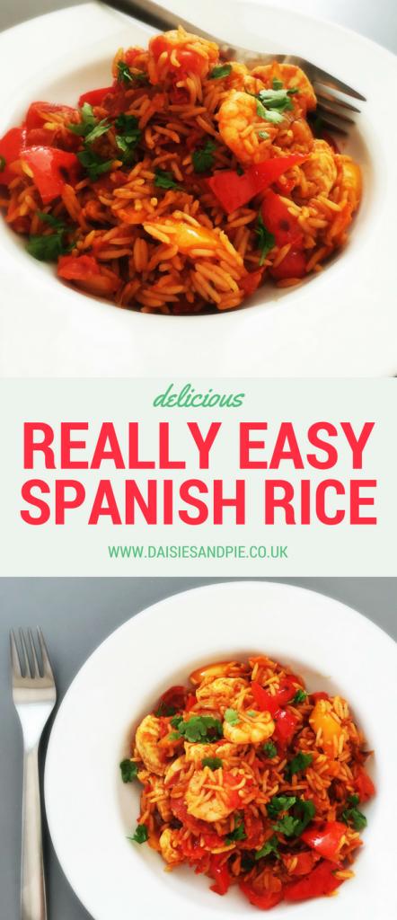 Deliciously tasty really easy Spanish Rice, cheat paella recipe, quick chicken recipe, easy summer dinner
