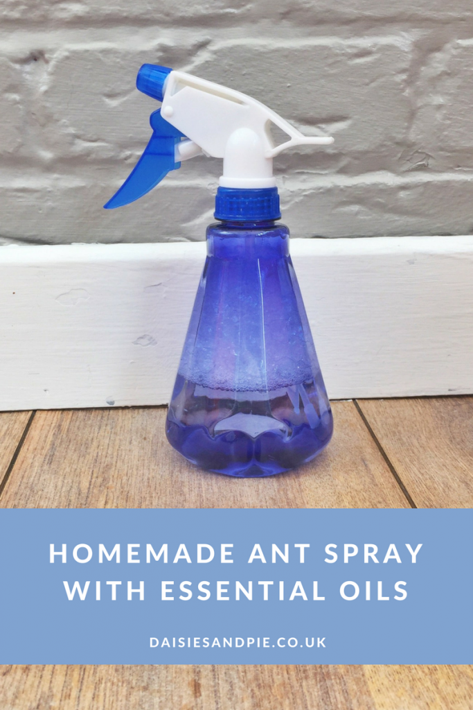 Homemade ant spray with essential oils, natural homekeeping tips, green homemaking