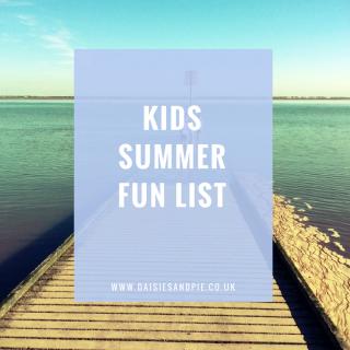 Kids summer fun list, summer activities for kids