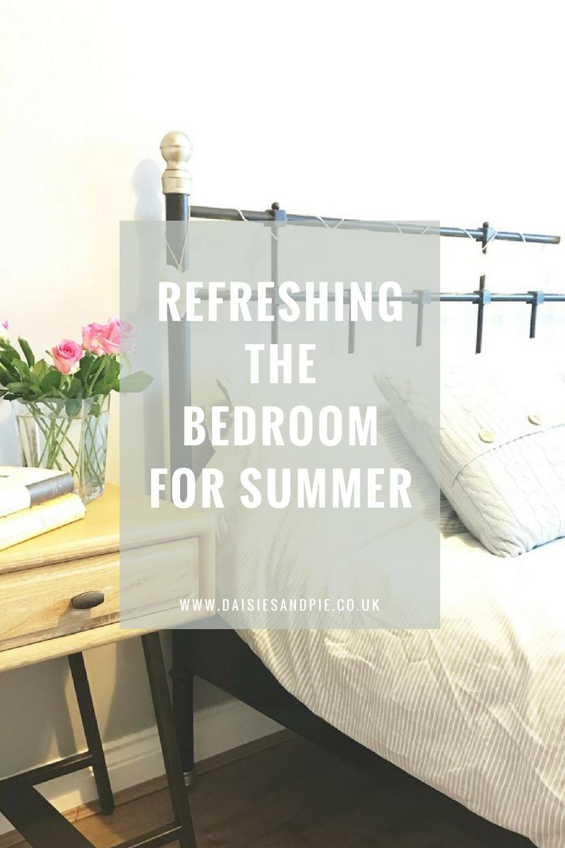 Refreshing the bedroom for summer, summer homemaking tips