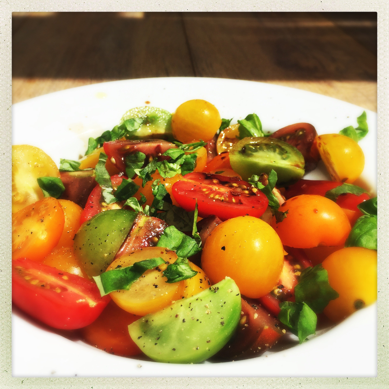 Perfect tomato salad