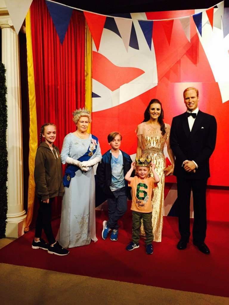 madam tussauds the royal family, madam tussauds kate and will, madam tussauds the queen, madam tussauds blackpool, days out with kids in blackpool