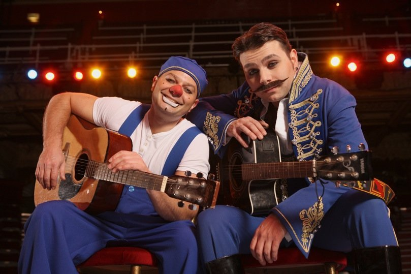 Mooky and Mr Boo Blackpool tower circus clowns, blackpool tower circus review