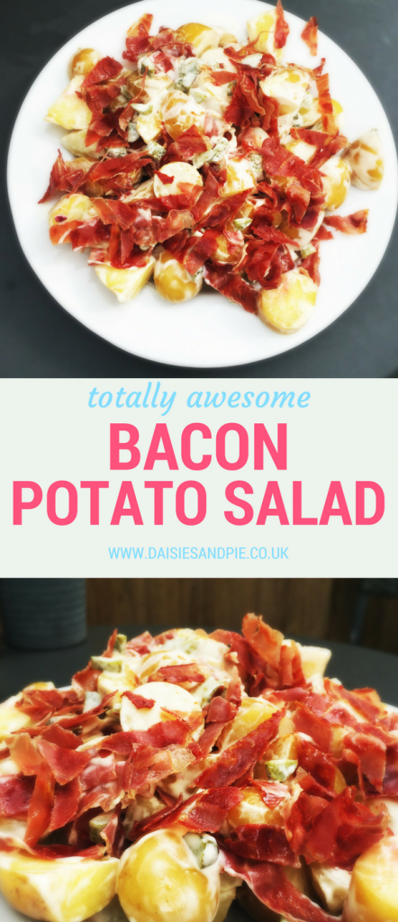 Awesome bacon potato salad, the best potato salad I ever made, perfect summer BBQ side dish