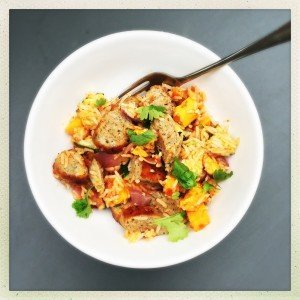 sausage and veg rice recipe, sausage recipe for family dinner, family recipe with sausages, easy sausage recipe, easy family food from daisies and pie