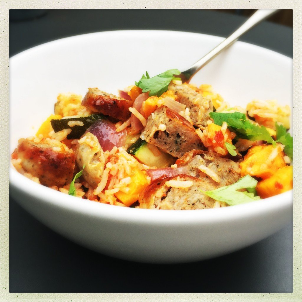 sausage and veg rice pot, sausage and rice recipe, easy sausage recipe , family recipe with sausages, easy family food from daisies and pie