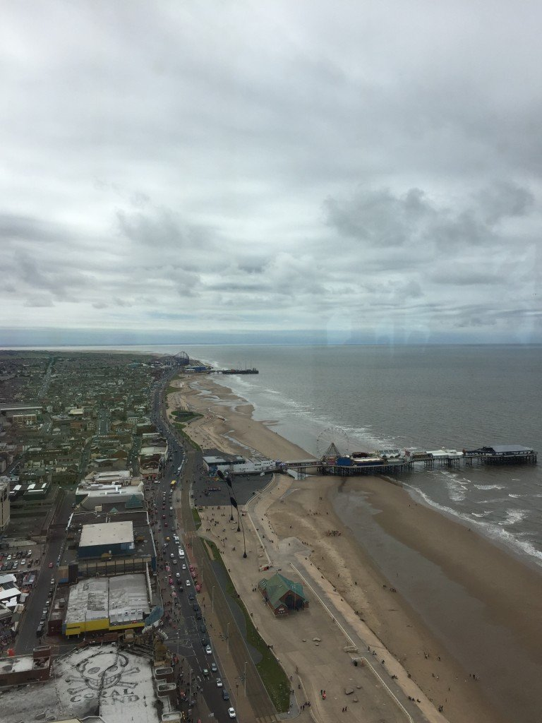 view from the top of blackpool tower, blackpool tower eye, things to do in north west, days out for kids uk