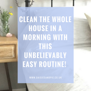 Clean your whole house in just a morning with this unbelievably easy routine that even schedules in time for coffee! What's not to LOVE?!