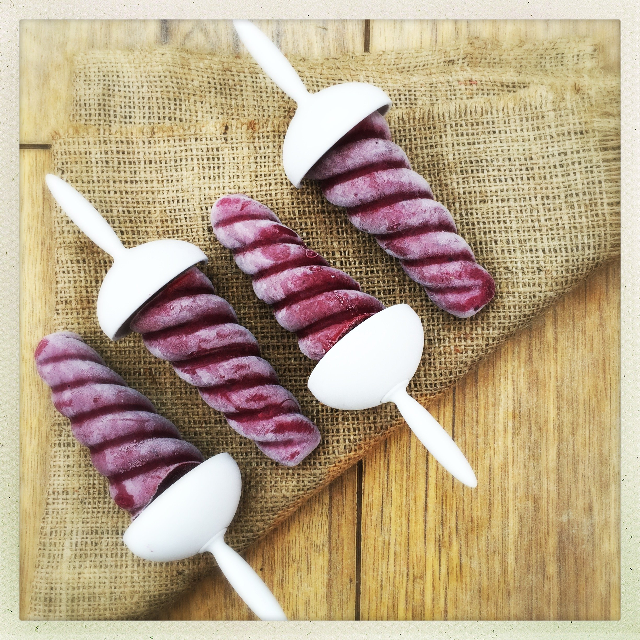 Blackberry yogurt pops