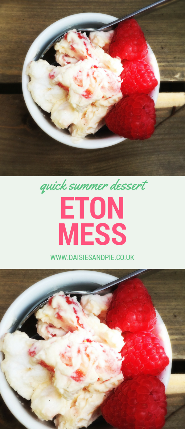 Easy Eton Mess dessert, a quick summer dessert ready in minutes, strawberry recipes