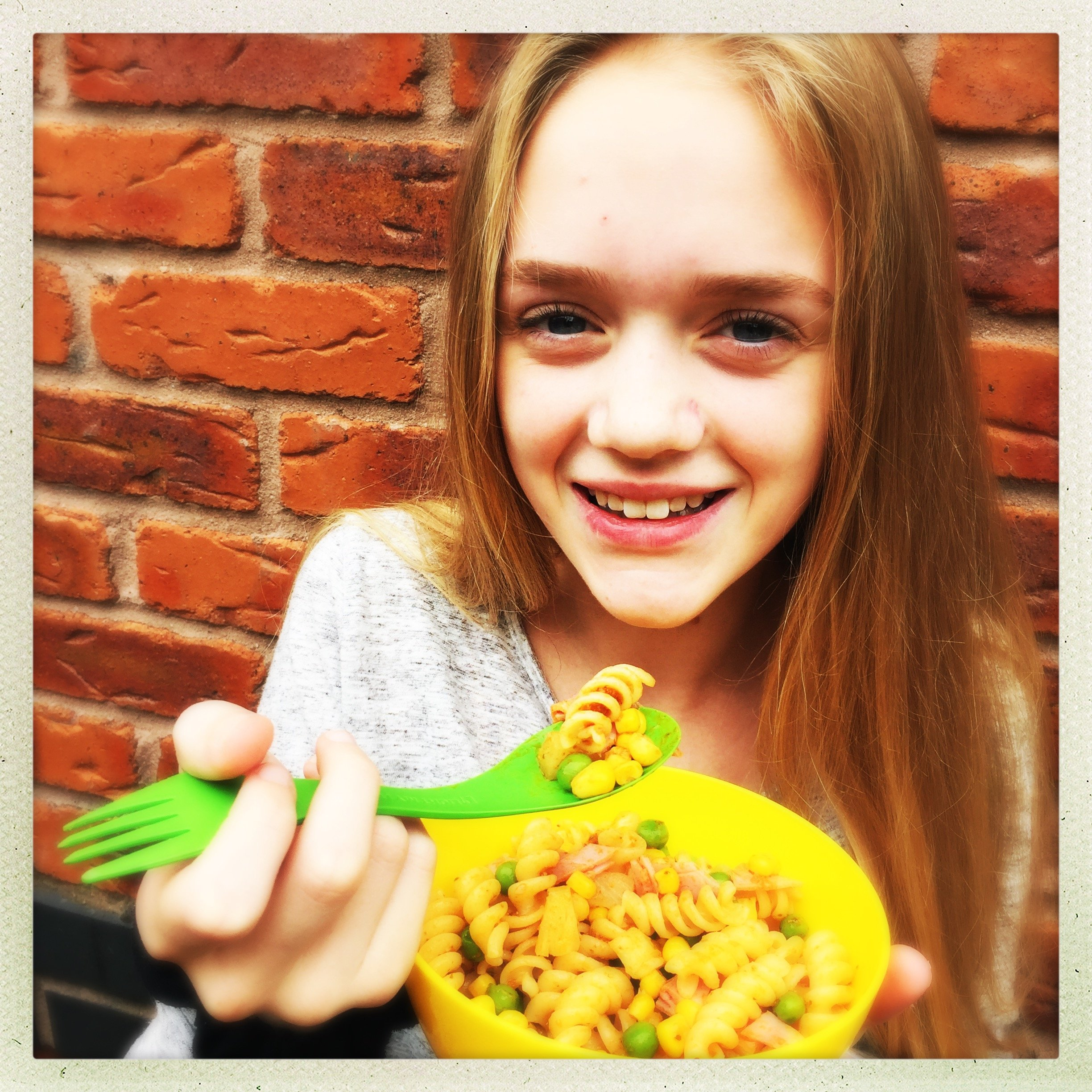 Kids lunchbox pasta salad