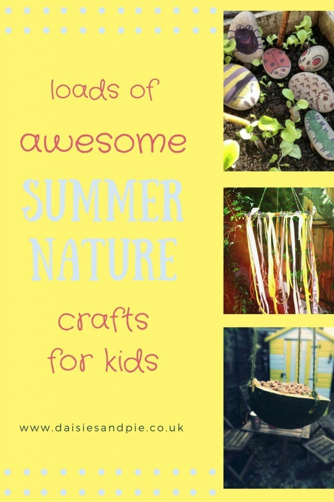 Loads of summer nature crafts for kids