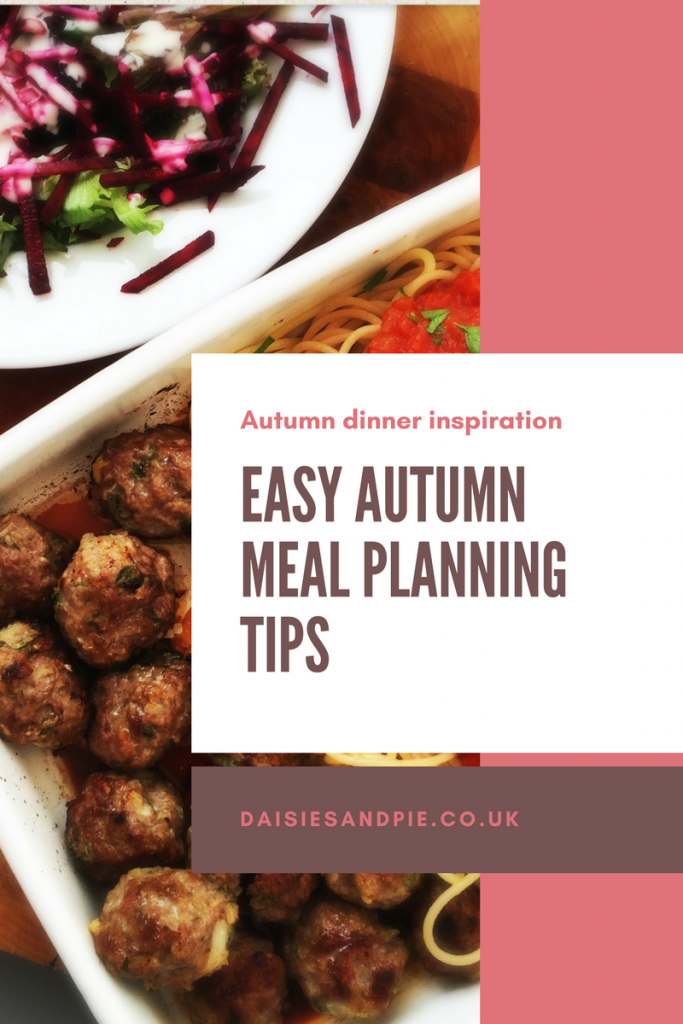 Autumn meal planning tips and ideas to make cooking easier, family meal planning tips, easy family dinner recipes