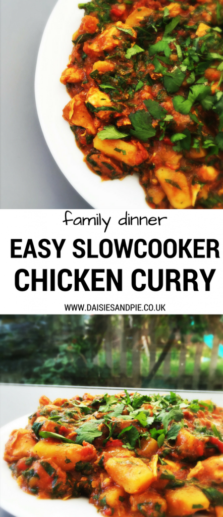 Easy slow cooker chicken curry, mild chicken curry perfect for family dinner, easy family food