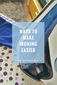 Ways to make ironing easier, housework tips