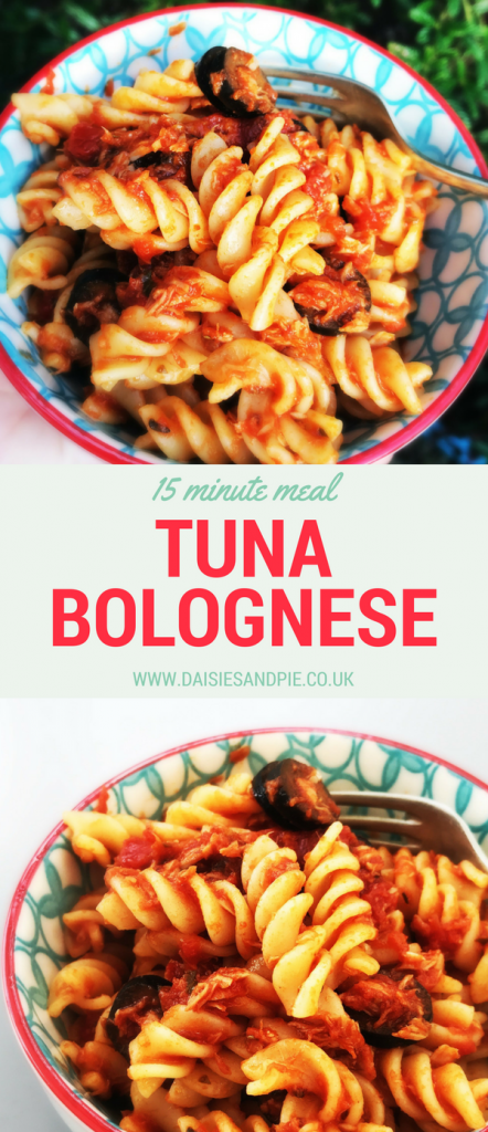 Tuna bolognese, 15 minute meal, summer dinner recipes