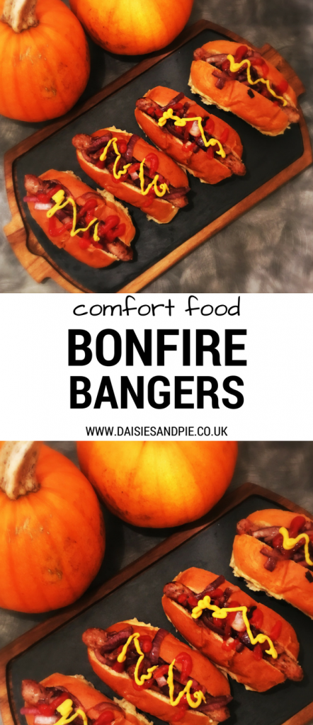 Delicious Bonfire Bangers perfect for Bonfire Night, autumn comfort food, easy party food for bonfire night, Halloween comfort food