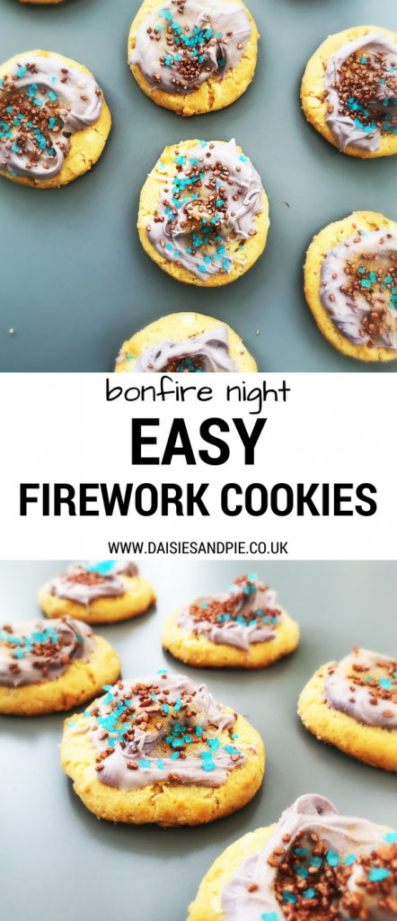 How to make really quick firework cookies, bonfire night recipe, easy decorated cookies recipe