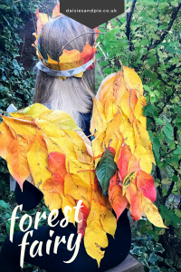 Autumn is the perfect time for making forest fairy wings and leaf crown - a totally fab kids autumn craft