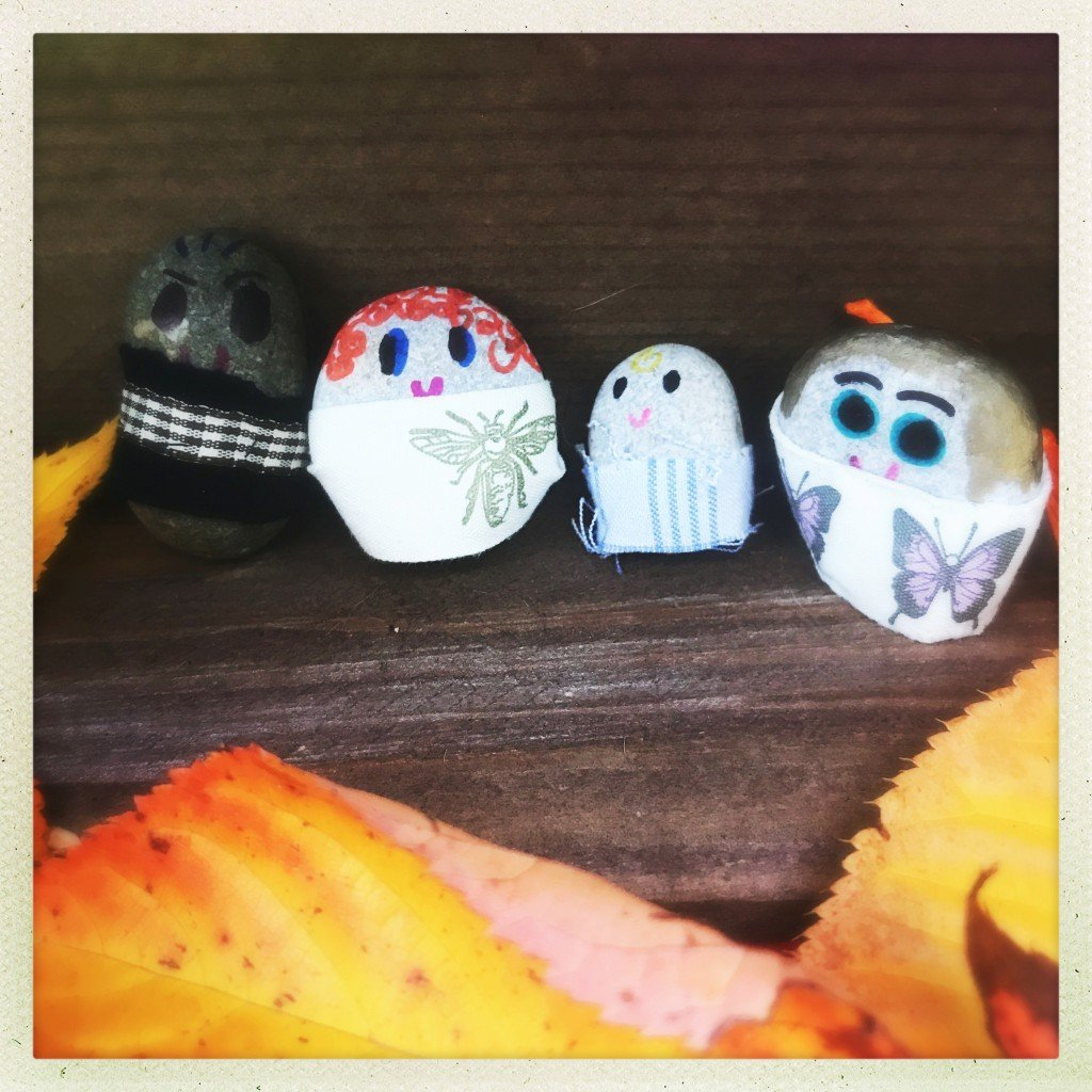 pebble craft, nature craft for kids, how to make pebble people
