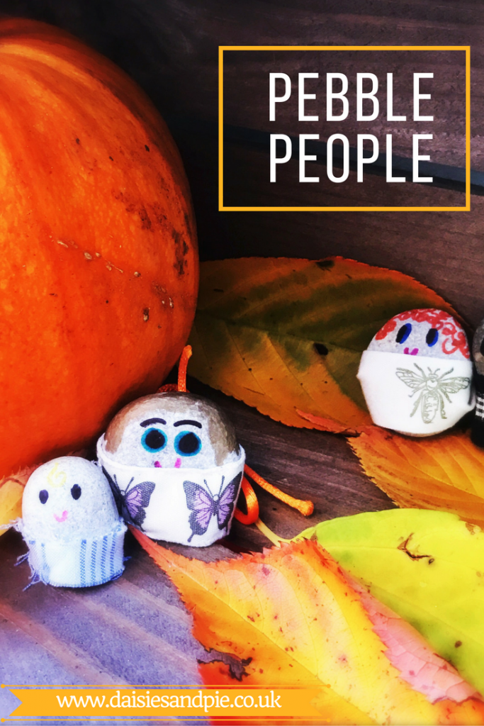 pebble people, nature craft for kids, how to make pebble people, autumn activities for kids