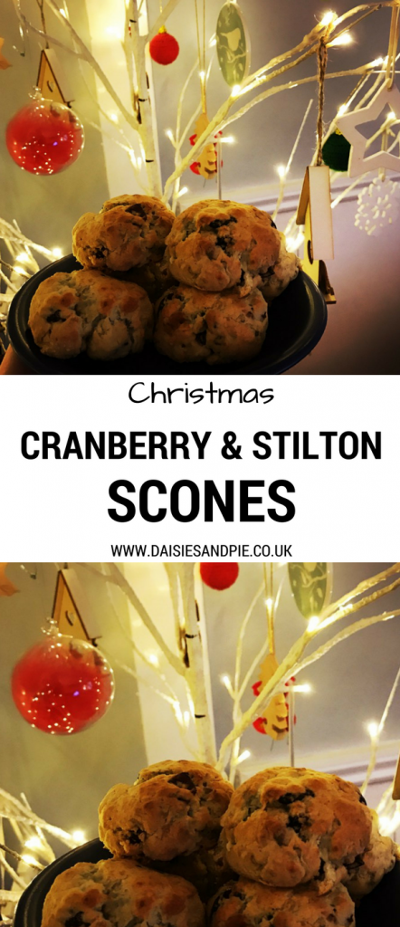 Delicious Christmas recipe for cranberry and stilton scones, Christmas party food ideas, homemade Christmas food