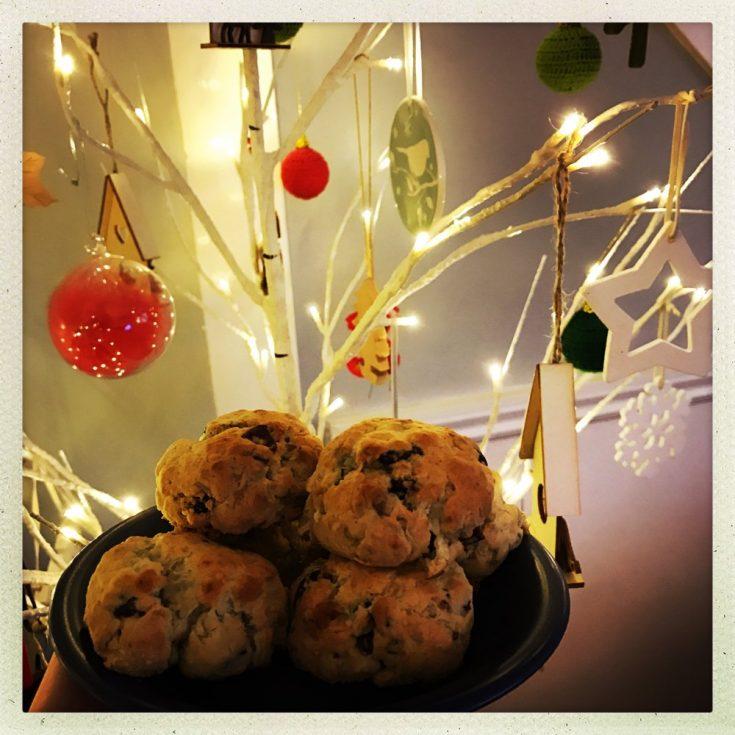cranberry and stilton scones, festive canapés, stilton recipes, Christmas party food