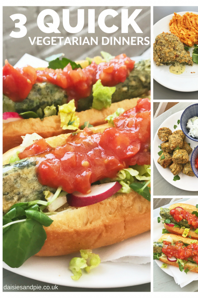 Quick Vegetarian Dinner Recipes, Quick midweek dinner ideas, Easy family food from daisies and pie