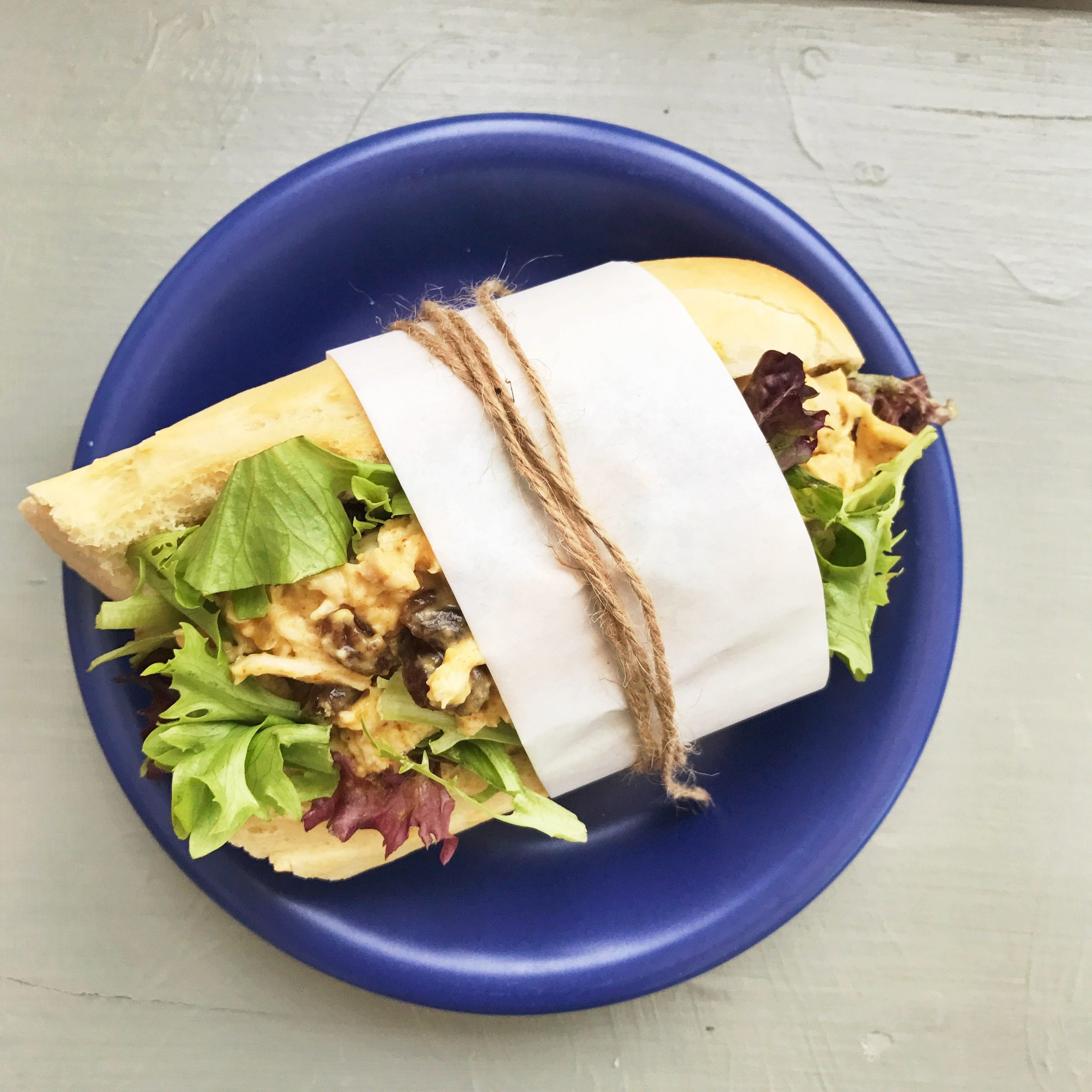 Coronation chicken sandwich recipe, leftover chicken recipes, easy family food from daisies and pie
