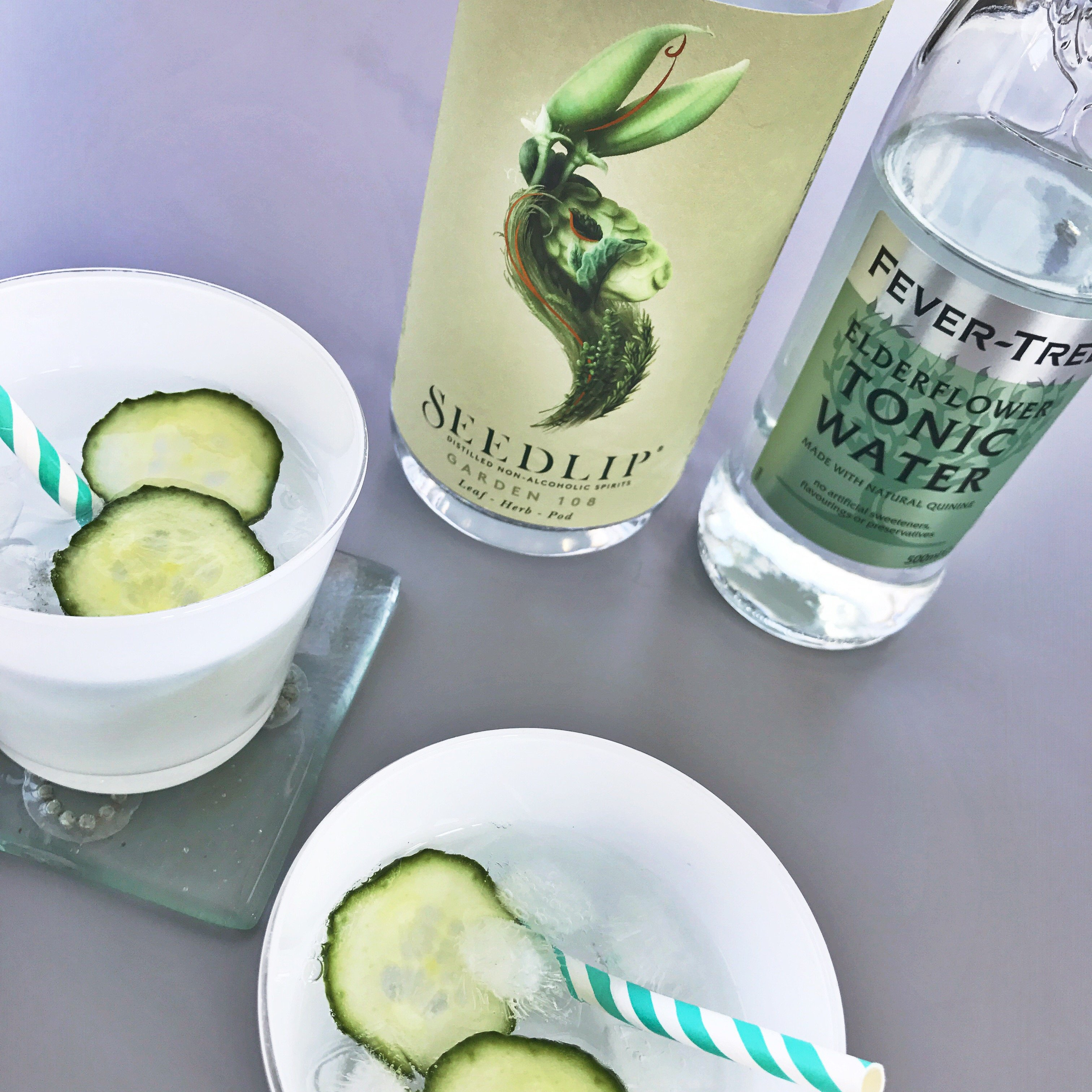Dry January drink, Seedlip Garden Spirit with Elderflower Tonic Water, Non Alcoholic party drinks, alcohol free drinks