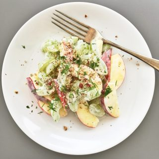 Waldorf salad recipe, easy side salad recipe, winter salad recipes, easy family food from daisies and pie
