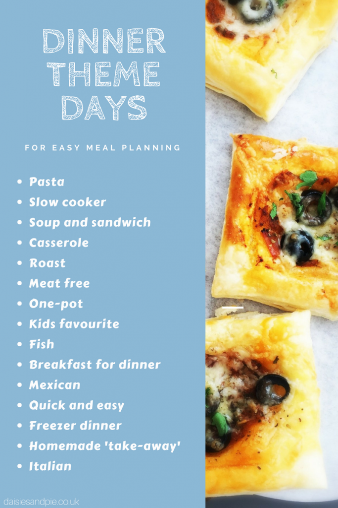 Dinner theme days to make meal planning so much easier, need some dinner inspiration or bored of eating the same old thing we can definitely help