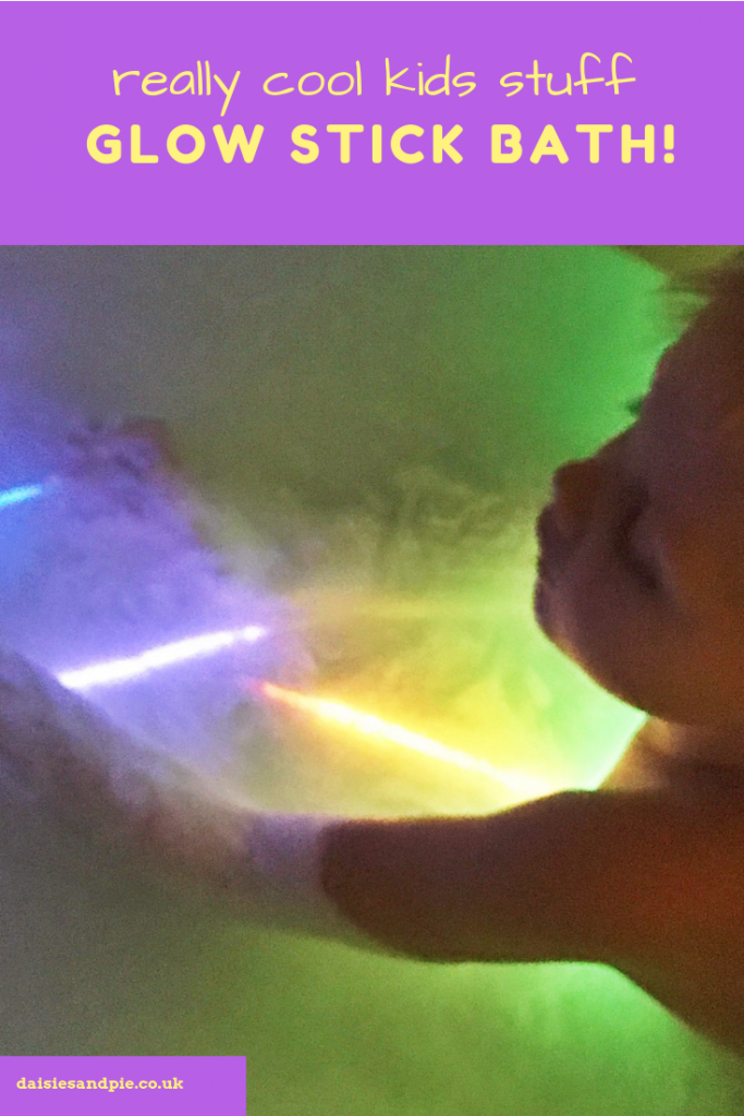 glow stick bath with bubbles