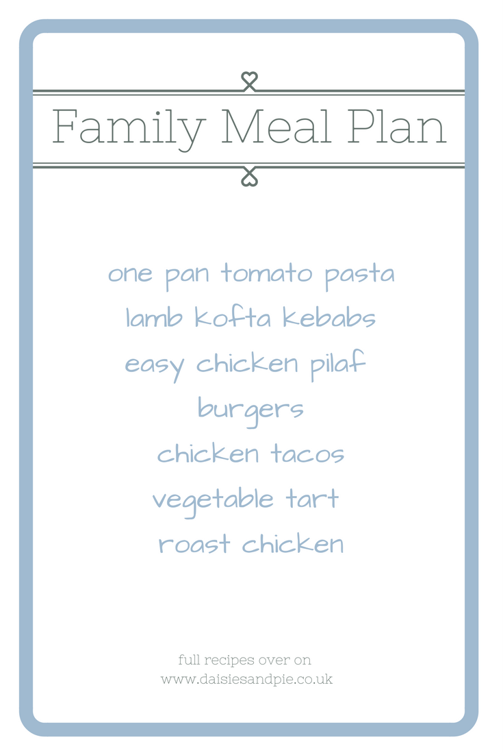 family meal plan, meal planning ideas, family dinner ideas, easy family recipes