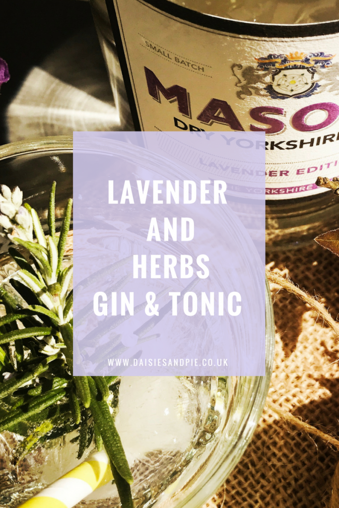 Gin drink with flowers, easy gin cocktails, gin with lavender, herby gin and tonic recipe, gin from 31 Dover, online drinks delivery UK, Masons Yorkshire Gin Lavender