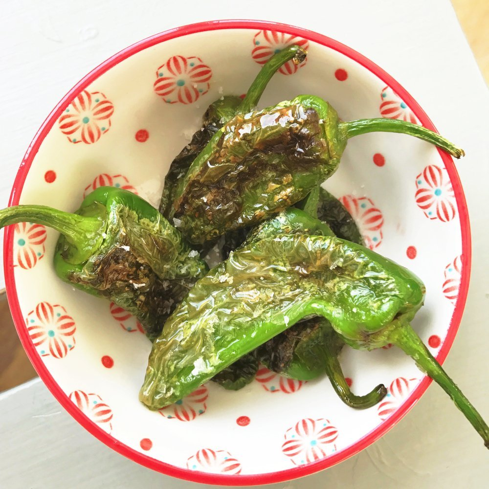 blistered padron peppers tapas
