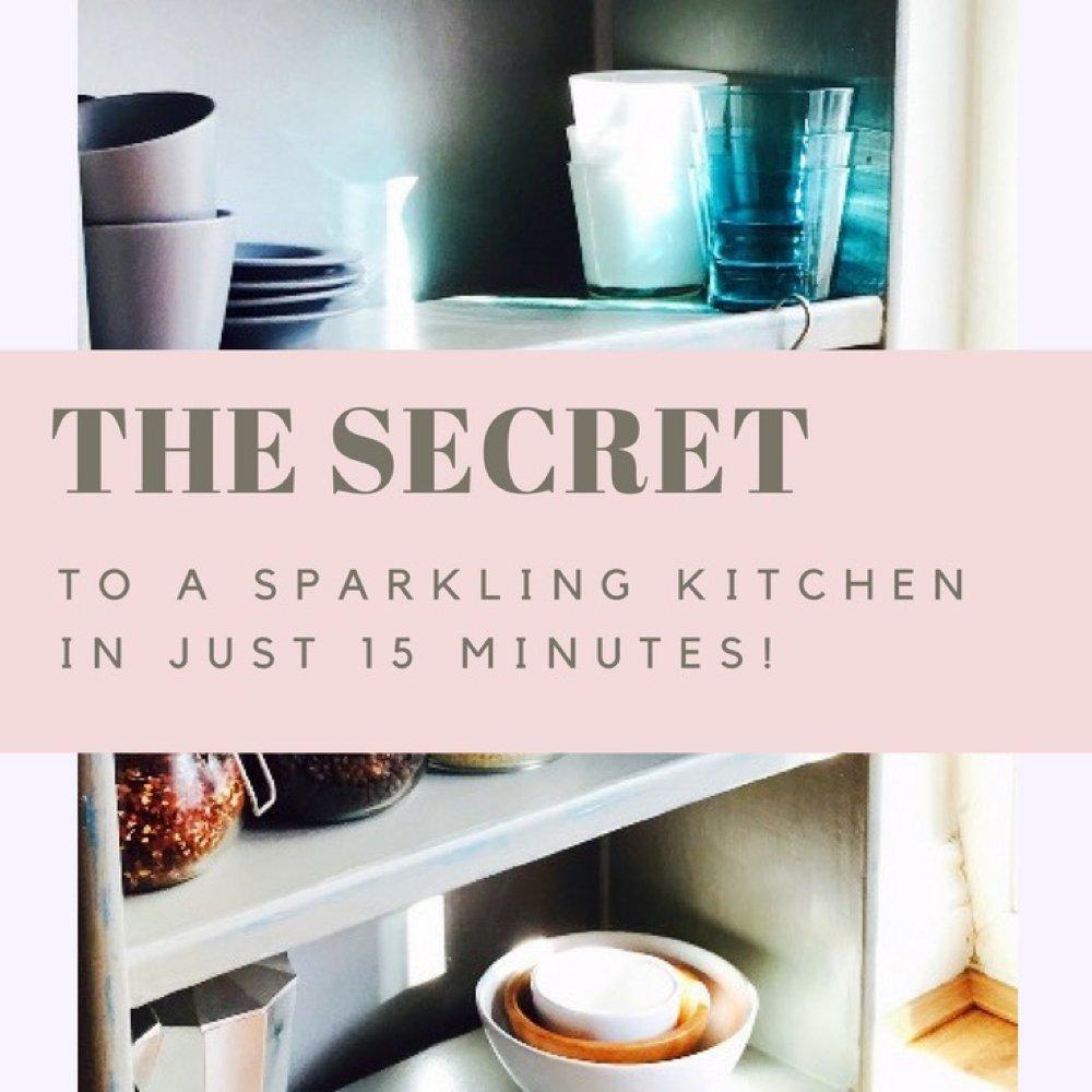 Sparkling Clean Kitchen: Clean The Kitchen In Just 15 Minutes