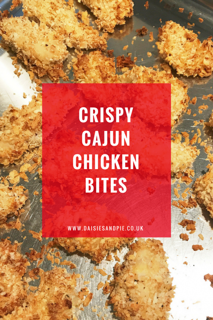 Easy crispy cajun chicken bites, easy family dinner recipe