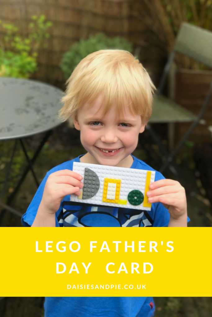 How to make a LEGO father's day card, homemade father's day card ideas for kids, kids LEGO crafts