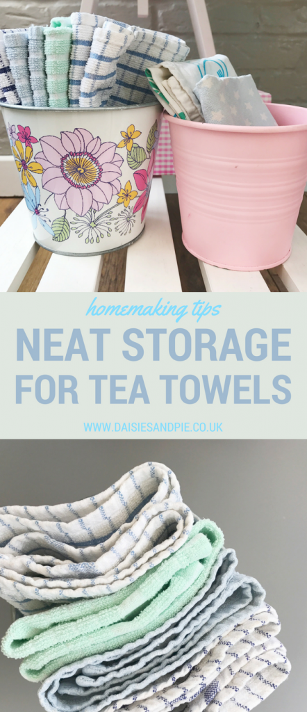 How to store tea towels, kitchen organisation tips, home organisation ideas