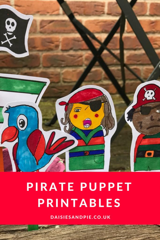Super cute pirate craft for kids, pirate puppet printables, summer crafts