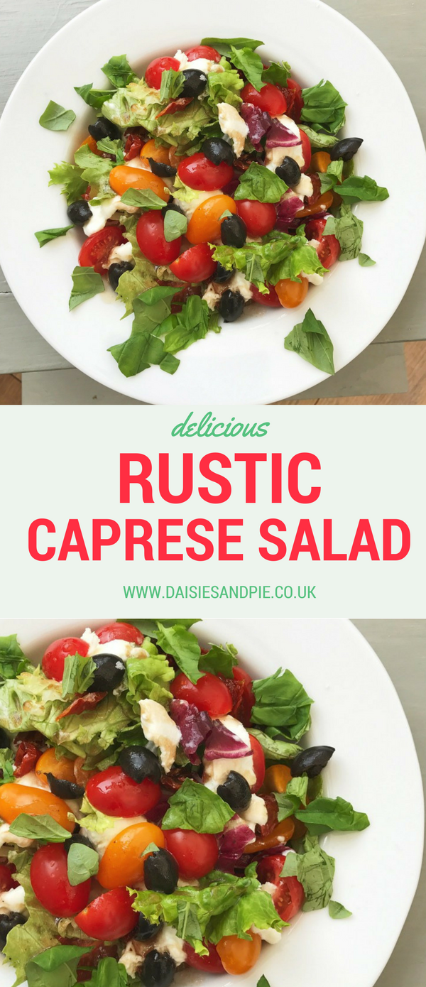 Rustic Caprese Salad with Balsamic Dressing, tasty summer salads, summer dinner recipes