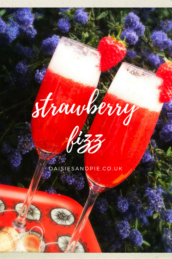 Strawberry Spritzer recipe, strawberry prosecco cocktail, summer party drinks