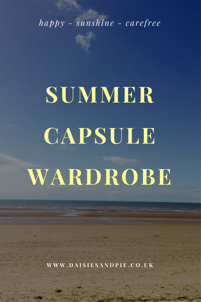 Summer Capsule Wardrobe – in progress