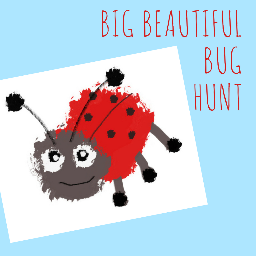 Garden bug hunt printable for kids, summer fun