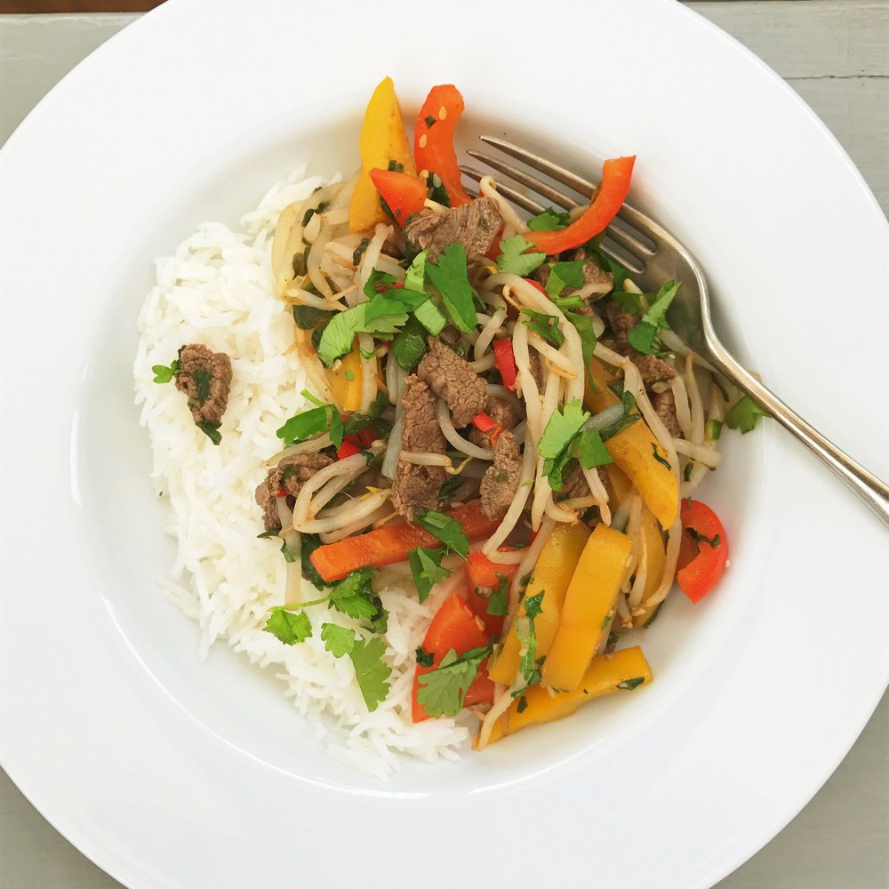 Chilli and lime beef stir fry recipe