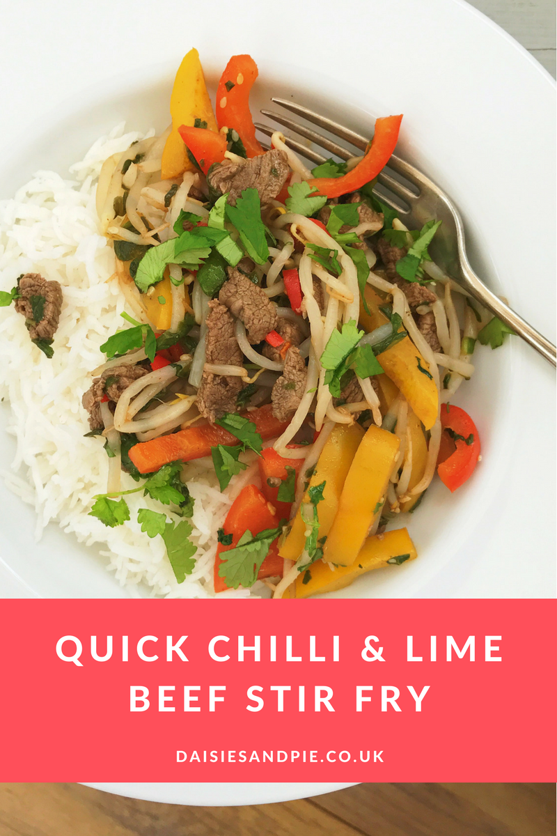 Quick chilli and lime Chinese beef, quick midweek meals, spicy beef and rice