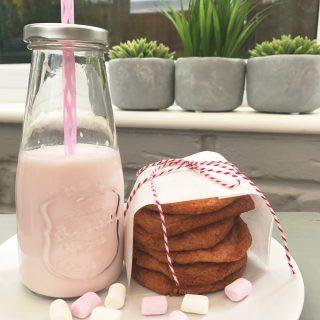 Strawberry milkshake cookies recipe, kids cookies recipe, easy family food